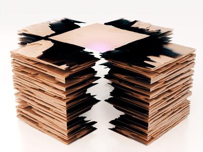 Material Studio 001 modo chocolate wafers design flat 3d