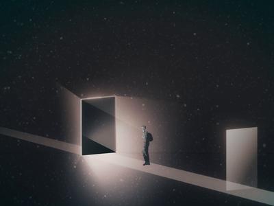 P △ T H S space light motion design illustration