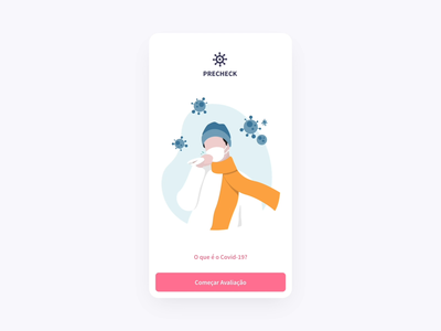 Mobile App Covid-19 | Medical Form App stayhome stay safe layout card app outsystems illustration flat questionnaire clean form typeform mobile