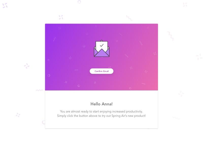 Invitation Email card sketch confetti design ux ui invite invitation newsletter email