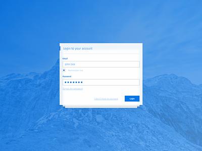 Login Screen 2 Step Verification website web ux ui typography responsive login layout kit clean card app
