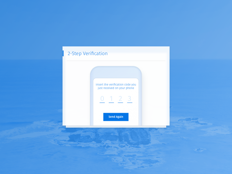 Login Screen 2 Step Verification website web ux ui typography responsive login layout kit clean card app