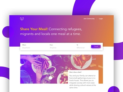 Share Your Meal | Winner Project Hack4Good social website web ux ui product layout page landing clean app