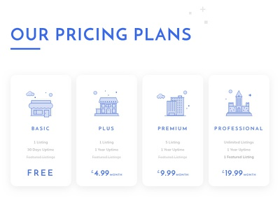Pricing Plan and Line Illustration desktop layout pattern price list cards pricing iphone
