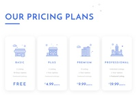 Pricing Plan and Line Illustration