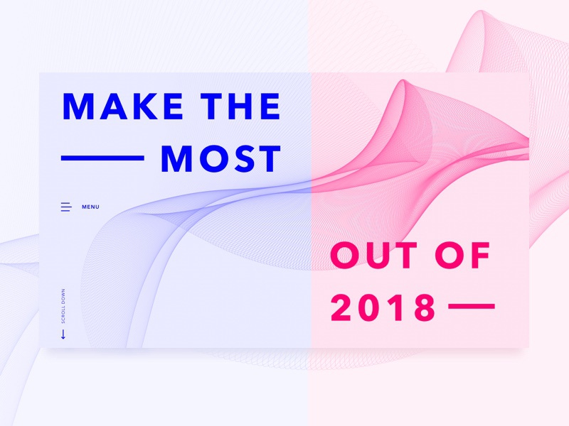 Make The Most of 2018 brutalism brutalist design interface desktop landing page web new year 2018 ux ui
