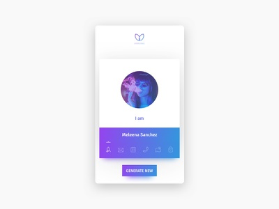 Mobile Persona UI Card website web ux ui typography product detail dashboard clean card app pattern