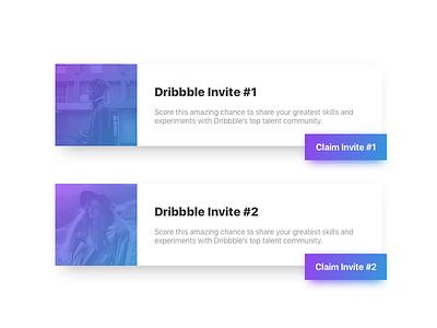 2 Dribbble Invites ux interface experience user ui prospect invite dribbble