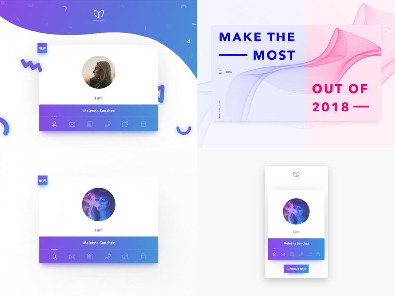 2018 Top 4 Shots desktop design mobile detail layout vector minimal gradient dashboard product card web app clean ux ui