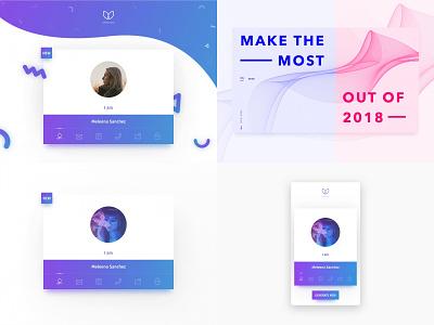 2018 Top 4 Shots desktop design mobile detail layout vector minimal gradient dashboard product card web app clean ux ui