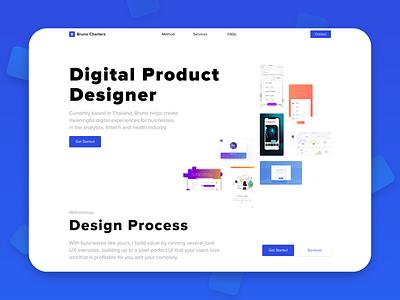 UX/UI Website minimal digital product digital product design portfolio freelancer design gradient desktop clean layout typography website web ui ux