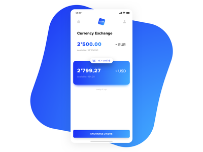 Currency Exchange Calculator   Daily UI currency converter currency exchange calculator ui ux clean app web card product dashboard layout typography detail gradient desktop minimal sketch ios payment