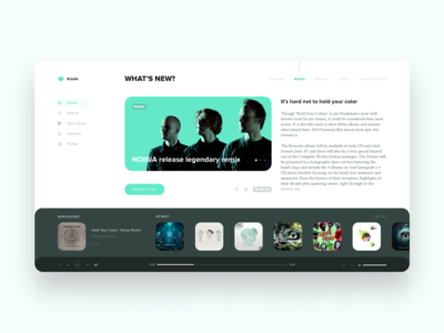 Music App and Portal   Daily UI