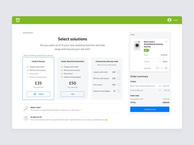 AO Basket – Services Selection Interaction