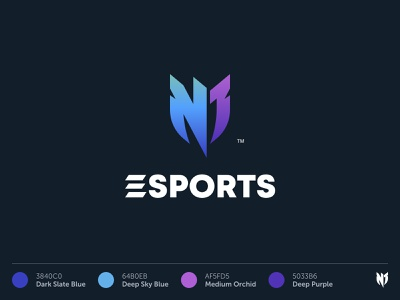N1 Esports Logo identity design branding design concept esports logotype logo identity branding