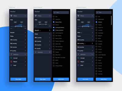 Sidebar filters side menu sidebar filters ui design ui ux design ux