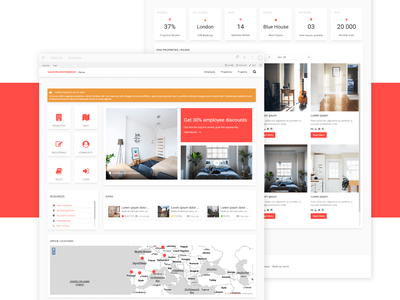 Booking Intranet sharepoint intranet web ui ux design