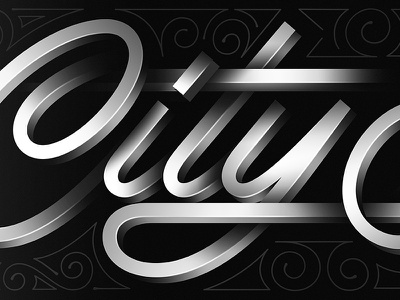 City Sounds Skateboard design skate letters blackandwhite gradient photoshop 3d stroke script letterig