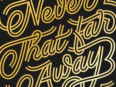 Close up vector drawing typography script poster print letters design lettering
