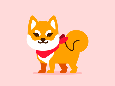 Shiba exercise vector flat pet drawing vector art shiba inu illustration japanese japan flat vector dog shiba