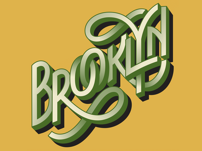 Brooklyn Lettering nyc new york ny city guide custom lettering custom letters travel city lettering brooklyn
