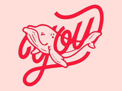 You drawing illustraion scriptlettering script letters lettering art lettering whale