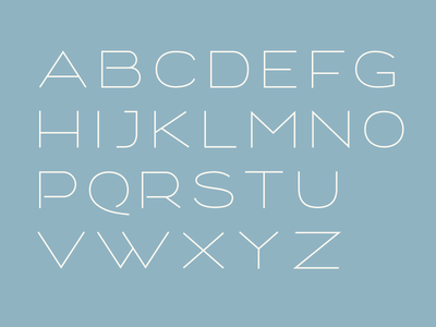 Bulevard light Alphabet