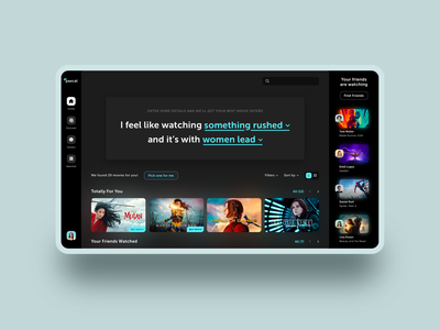 Movies Desktop App movies app discovery movies ux design ux ui design design ui