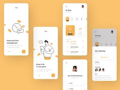 Another task manager app :) task manager ios app design illustration app design