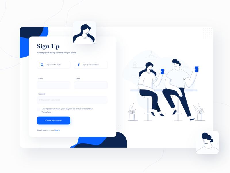 Sign Up Form sign up form daily web app design web design illustration sign up signup