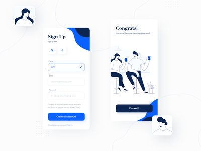 Mobile Sign Up Form mobile signup form mobile design daily app character design illustration sign up form signup sign up