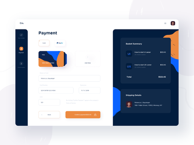 Checkout Process - Payment checkout process ui daily design web app ipad payment payment form checkout