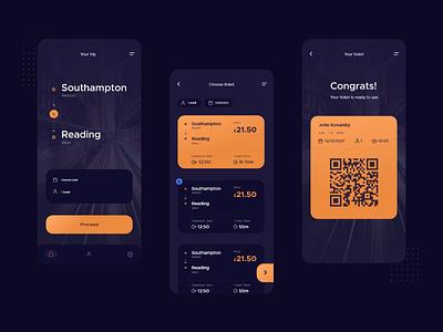 Ticket App Exploration mobile app mobile ui mobile ticket booking ticket app ticket