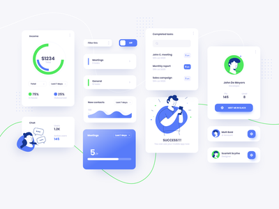 Ui Components character design illustration dashboard design dashboard ui dashboard ui design ui