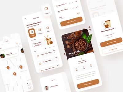 Another delivery app :) mobile ui mobile app ui design app concept coffee app food delivery food delivery app coffee