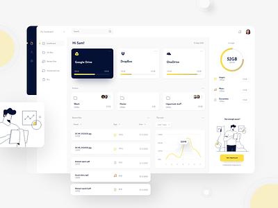 Dashboard - File manager web application design web app design dashboard design dashboard dashboard ui cloud app file manager
