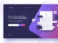Email marketing landing page concept