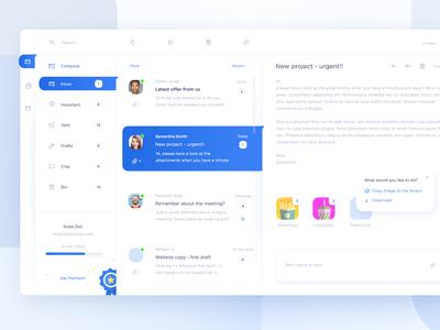 Mail client app concept - inbox
