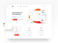 Bankinng App - Landing Page