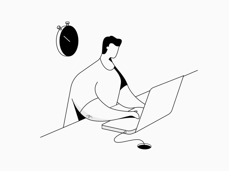 Deadline character design illustraion