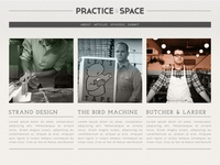 Practice & Space redesign concept