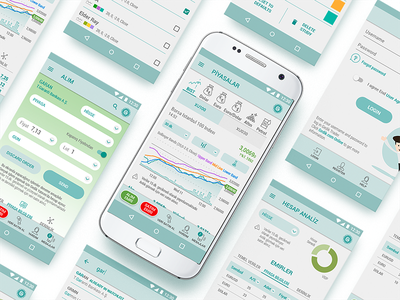 Gedik Trader for Android interface market trading finance app mobile ux ui