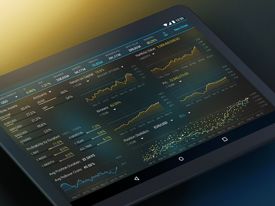 Account Overview Screen account financial material ux ui trading tablet android
