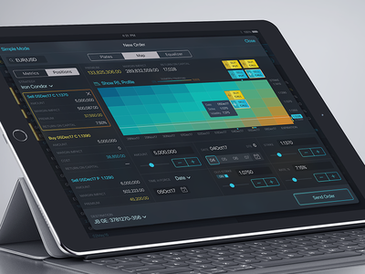 New Order Screen ipad order ios app finance interface ux ui trading