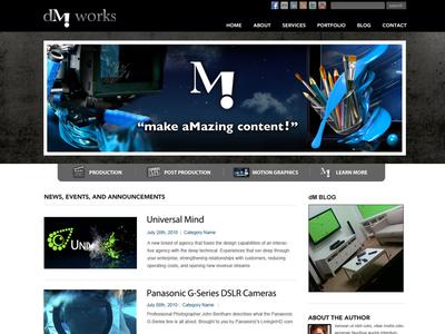 dM works Website Design