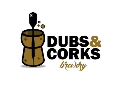 Dubs & Corks Brewery Logo - Concept Logo