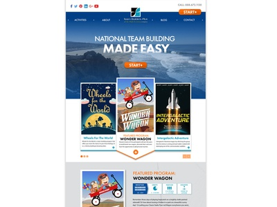 Vector Team Building Web Template Redesign for Wordpress