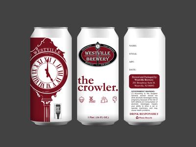 Westville Brewery Crowler Can Design