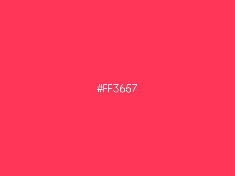 FF3657 ui design color red
