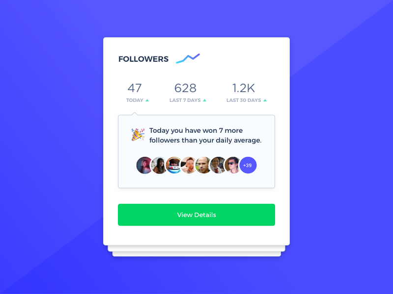 Followers Card Updated ux webdesign uidesign user profile user navigation process modal concept daily ui concept layout followers following card design